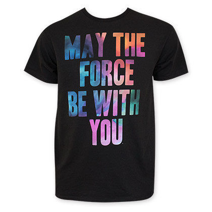 Star Wars Men's May The Force Be With You Tie Dye Tee Shirt