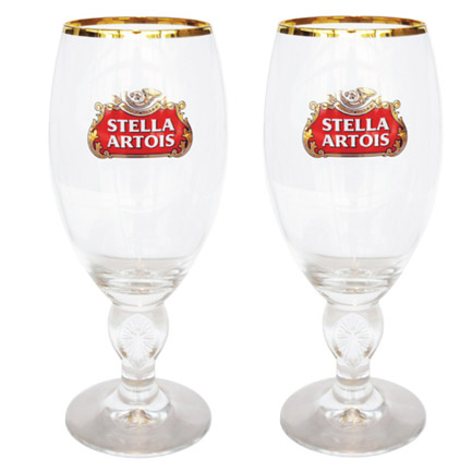 Stella Artois Chalice Glasses (Set of 2)