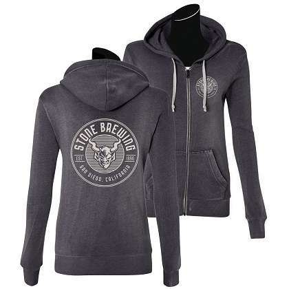 Stone Brewing Criterion Womens Grey Hoodie