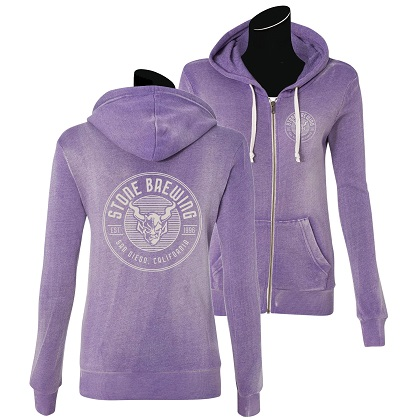 Stone Brewing Criterion Womens Purple Hoodie