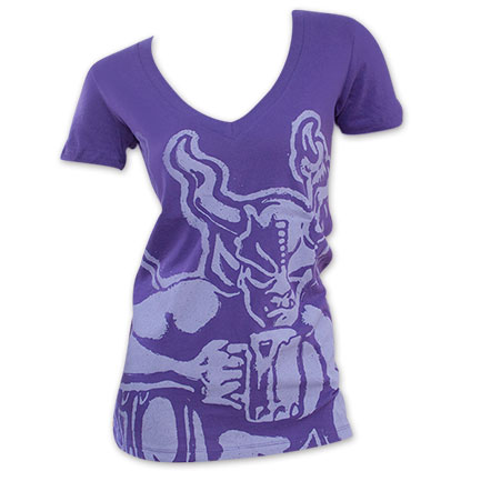 Womens Arrogant Bastard Devil Purple V-Neck Shirt