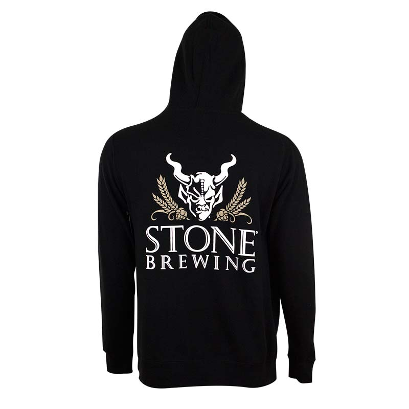 Stone Brewing Men's Black 4.0 Zip Up Hoodie