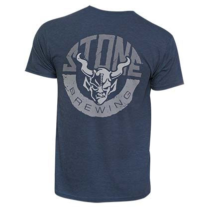 Stone Brewing Co. Men's Navy Blue Horns T-Shirt