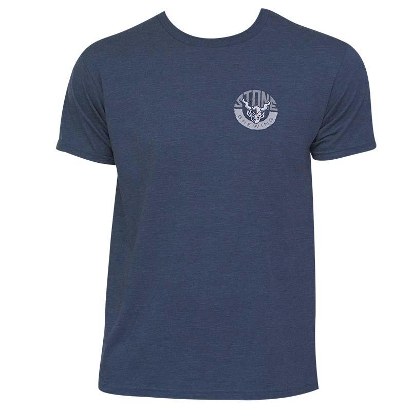 Stone Brewing Co. Men's Navy Blue Horns T-Shirt