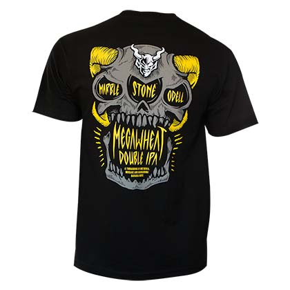 Stone Brewery Men's Black Megawheat Double IPA T-Shirt