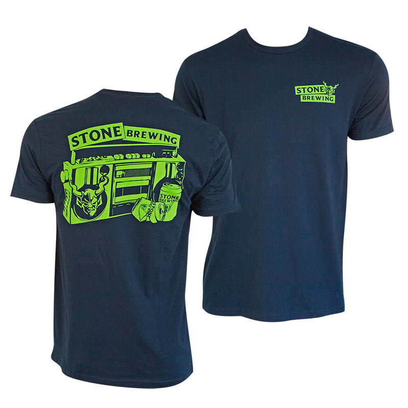 Stone Brewing Co. Men's Navy Blue Beers For Your Block T-Shirt