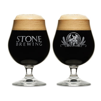 Stone Brewing Co. Duel Logo Specialty Chalice Glass