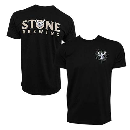 Stone Brewing Devil Logo Black Men's Tee Shirt