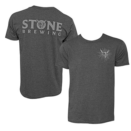 Stone Brewing Devil Logo Gray Men's T-Shirt