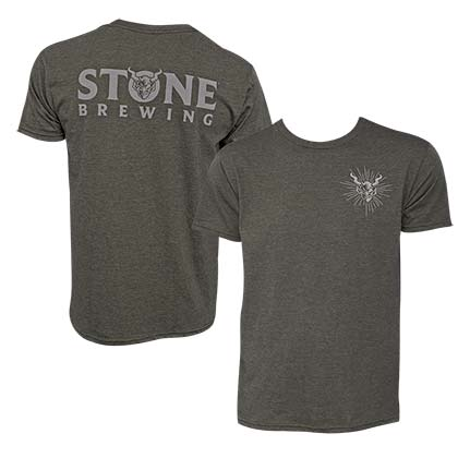 Stone Brewing Devil Logo Olive Green Men's T-Shirt