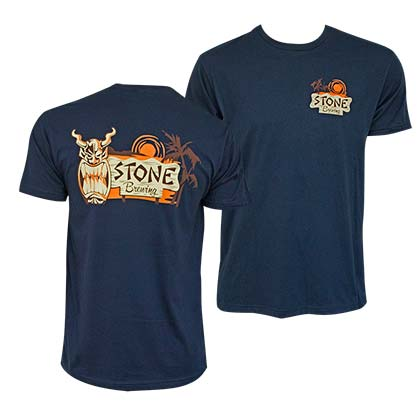Stone Brewing Tiki Logo Navy Blue Tshirt