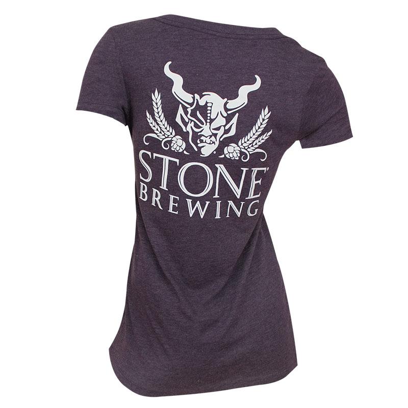 Stone Brewing Co. Women's Purple V Neck T-Shirt