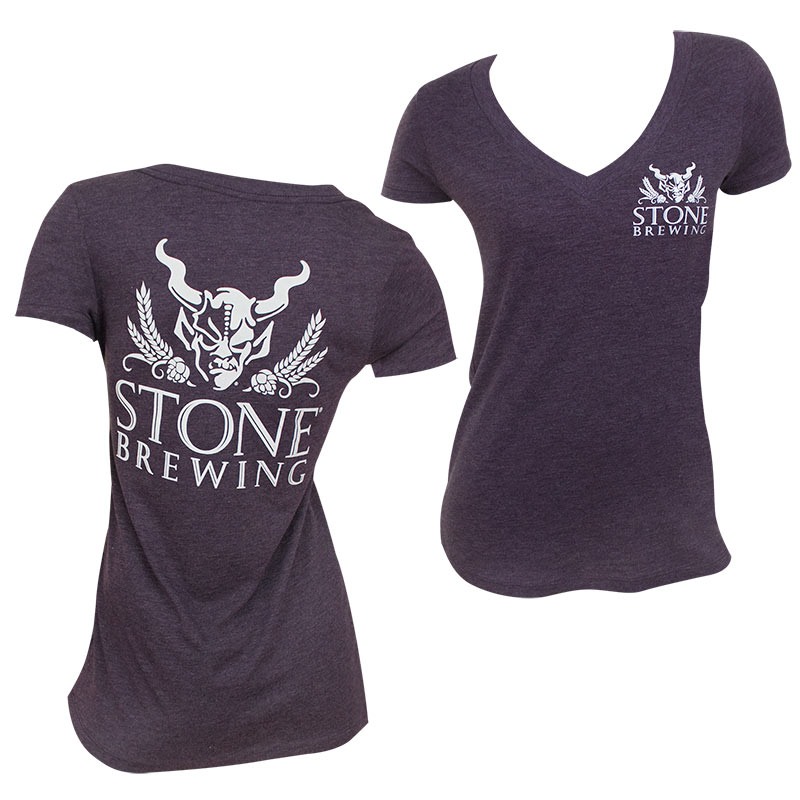 Stone Brewing Co.Ladies V Neck Tee Shirt