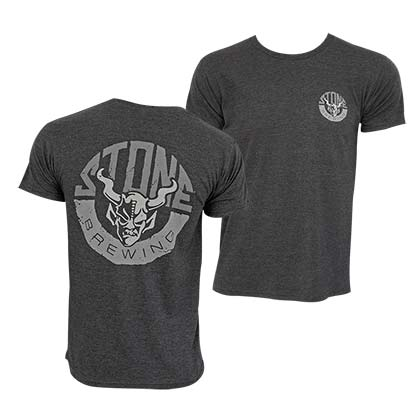 Stone Brewing Co. Men's Grey Horn Logo T-Shirt