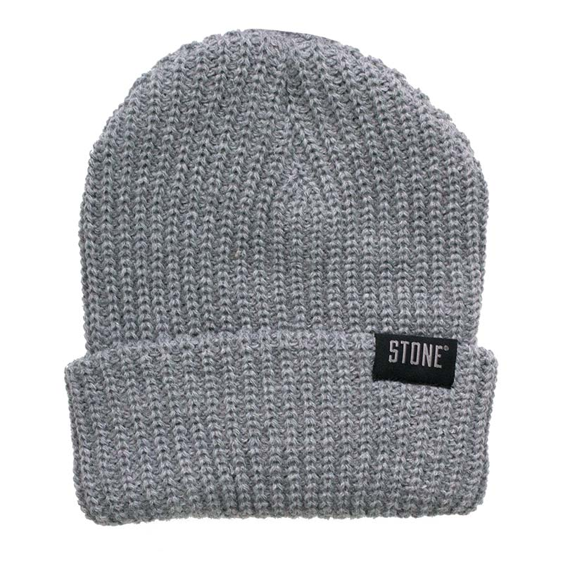 Stone Brewing Knit Grey Beanie