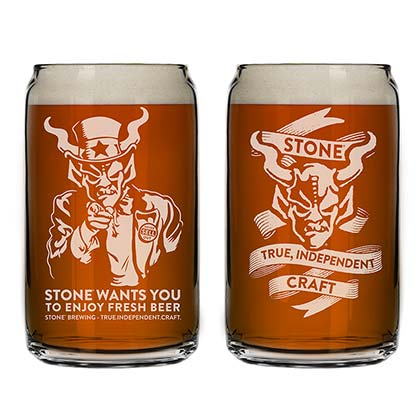 Stone Brewing Co. True Independent Pint Glass
