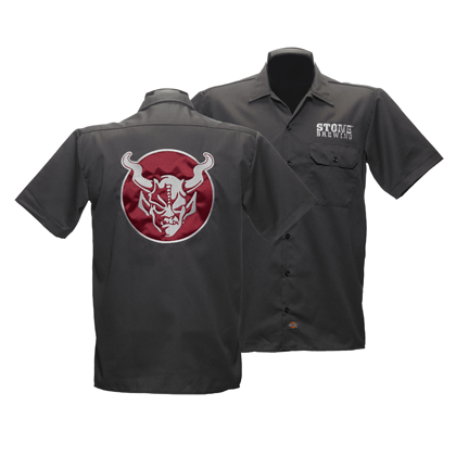 Stone Brewery Black and Red Work Shirt