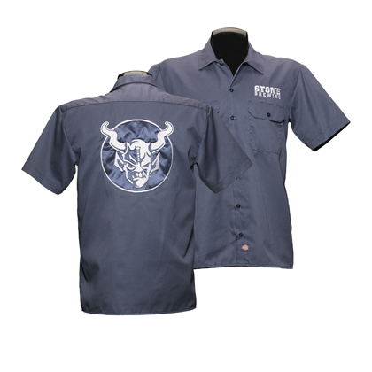 Stone Brewery Navy Blue Work Shirt