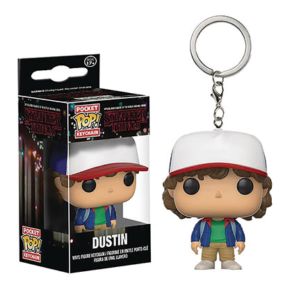 Stranger Things Funko Pop Dustin Pocket Keychain