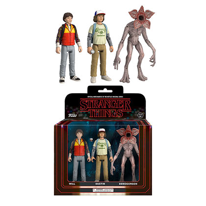 Stranger Things Action Figure Will Dustin Demogorgon Toy Set