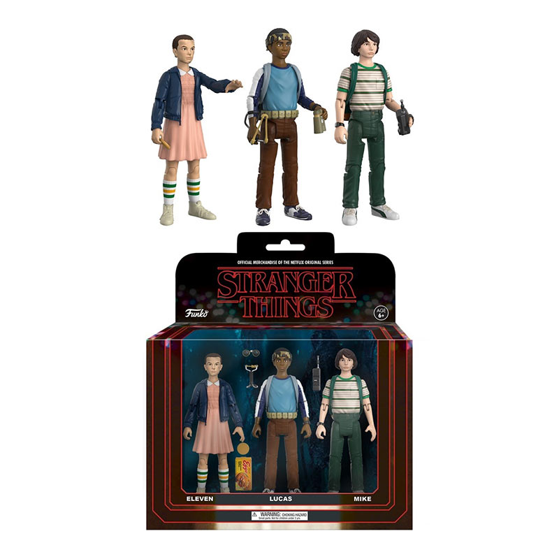 Stranger Things Action Figure Lucas Eleven Mike Toy Set