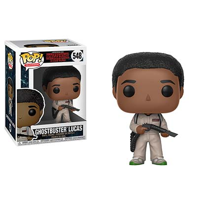 Stranger Things Ghostbuster Lucas Funko Pop Vinyl Figure