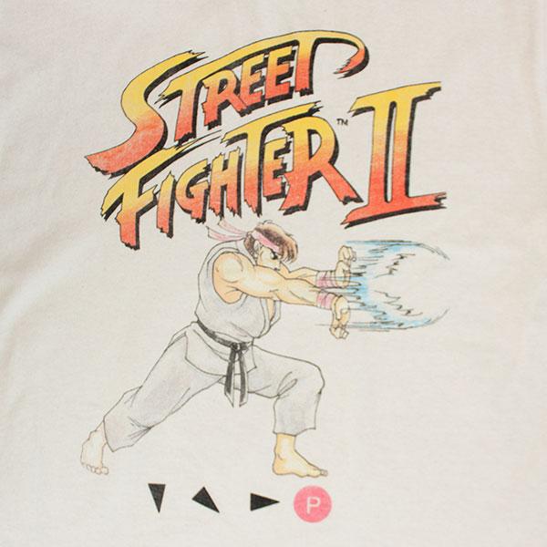 Street Fighter 2 Ryu Hadoken Off White T-Shirt