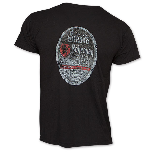 Stroh's Beer Logo Vintage Men's Black Shirt
