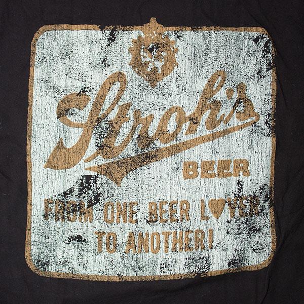 Stroh's Beer Men's Vintage Black Shirt