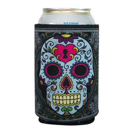 Sugar Skull Beer Can Insulator