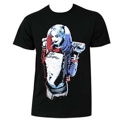 Suicide Squad Harley Quinn Men's Queen Pose T-Shirt