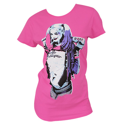 Suicide Squad Harley Quinn Bright Pink T-Shirt
