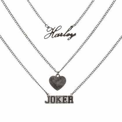 The Joker And Harley Quinn Three Chain Necklace