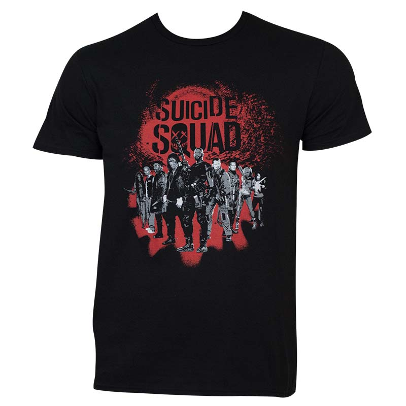 Suicide Squad Men's Black Group T-Shirt