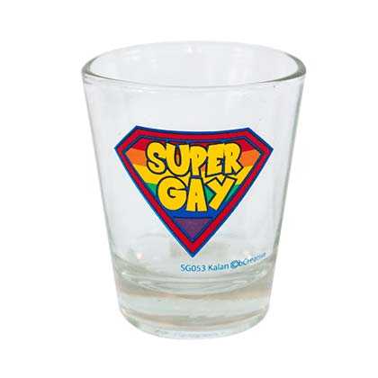 Super Gay Novelty Shot Glass
