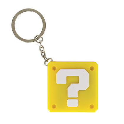 Super Mario Bros. Yellow Question Mark Sound Keychain