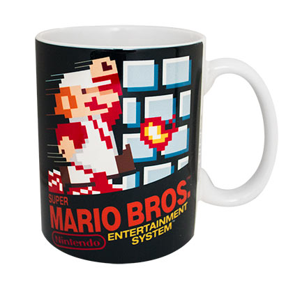 Super Mario Bros. Black NES Ceramic Coffee Mug