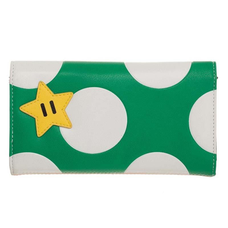 c2797b7a Super Mario Bros. Green Mushroom Flap Wallet   SuperheroDen.com