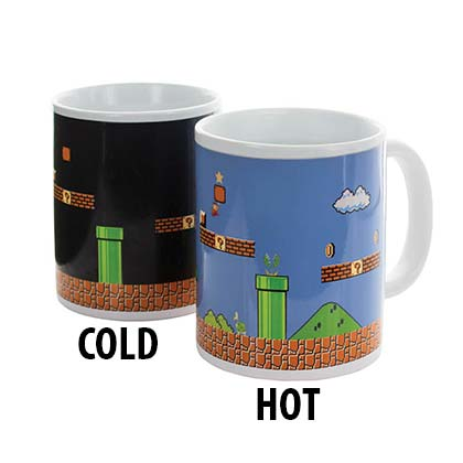 Super Mario Bros. White Color Changing Mug