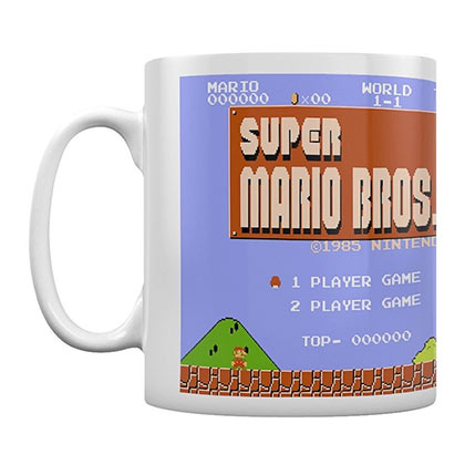 Super Mario Brothers Level 1 NES Graphic Mug