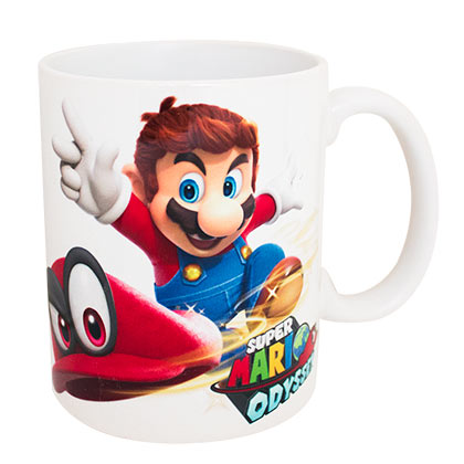 Super Mario Bros. White Odyssey Throwing Cappy Ceramic Coffee Mug