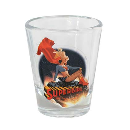 Supergirl Character Shot Glass