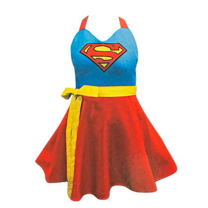 Supergirl Ladies Costume Apron