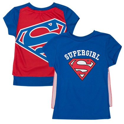 Supergirl Youth Caped Costume T-Shirt