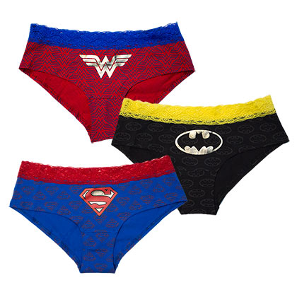 DC Comics Superhero 3-Pack Panty Set