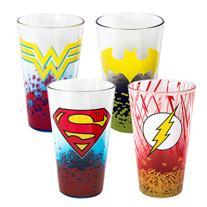 DC Comics Superhero Four Pack Pint Glass Set