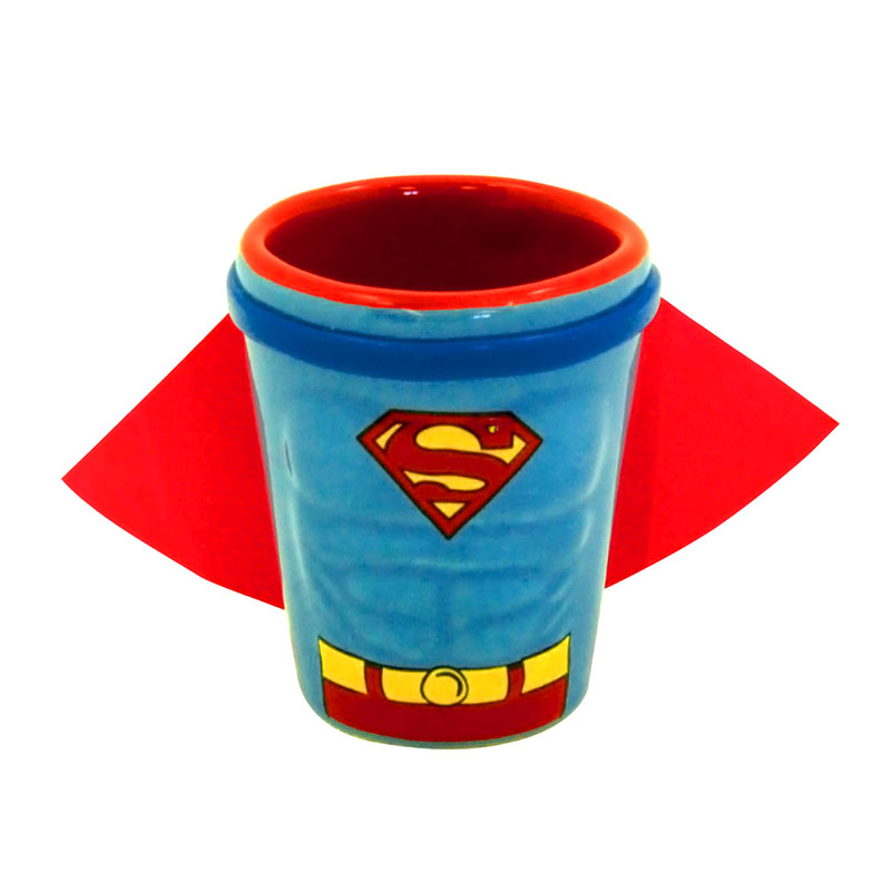 Superman Caped Comic Shot Glass