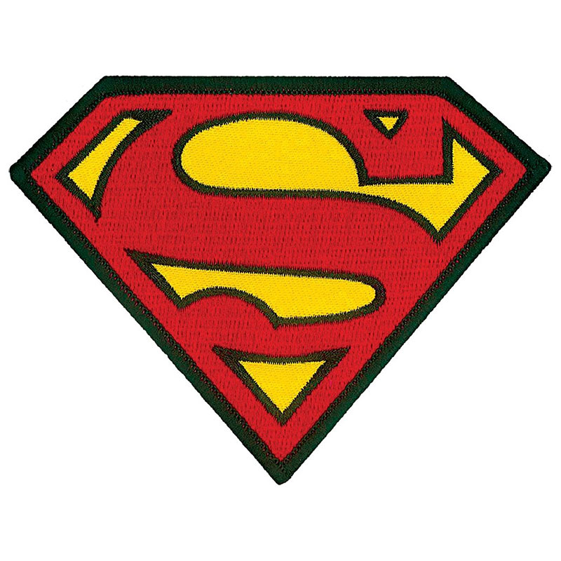 Superman Comic Logo Iron On Patch