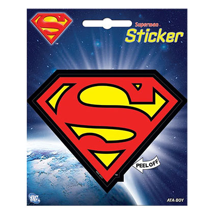 Superman Superhero Logo Sticker