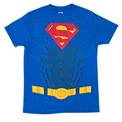 Superman Men's Blue Suit Up Costume T-Shirt